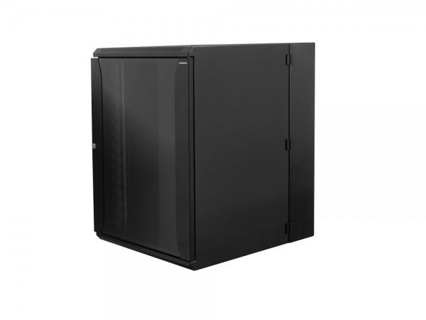 """19"""" Wandgehäuse zweiteilig 12HE 600X650mm, schwarz, LogiLink® [W12D67B]"""
