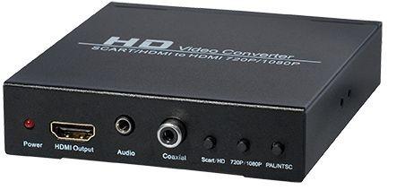 Konverter Scart + HDMI auf HDMI, mit Upscaler und zusätzlichem Audio Ausgang