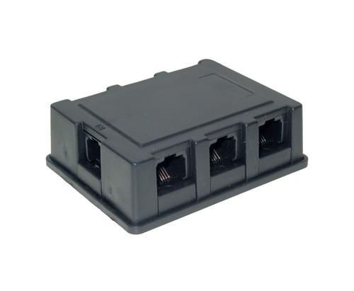 ISDN-Verteiler BOX 6-fach incl. Kabel 8/4, 3m