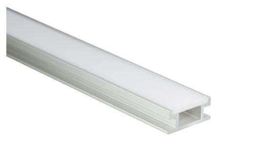 Al-Profil für LED-Leisten, 19,2 x 8,5mm, ca. 2m