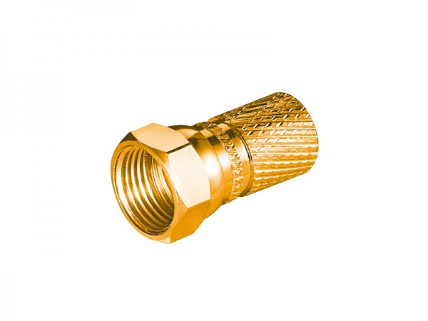 F-Stecker, Ø 7,3mm, vergoldet, Good Connections®