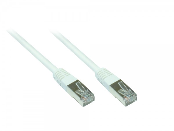 Patchkabel, Cat. 5e, F/UTP, weiß, 15m, Good Connections®