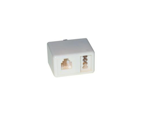 Telefon-Adapter F Stecker / F+Western 6p4c Buchse, Good Connections®