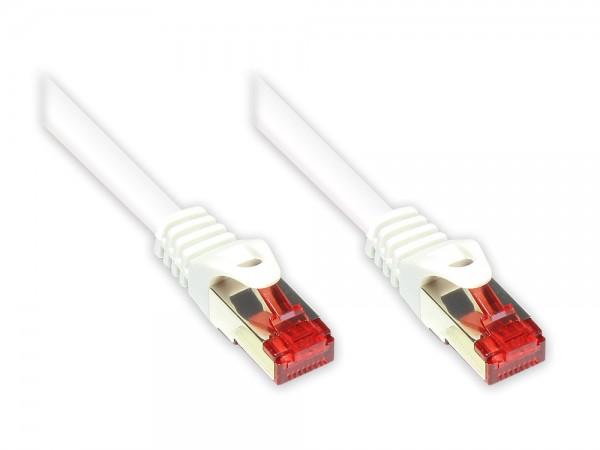 RNS® Patchkabel mit Rastnasenschutz, Cat. 6, S/FTP, PiMF, PVC, 250MHz, weiß, 40m, Good Connections®