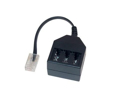 Telefonadapter RJ45 (8/4) Stecker an NFF Buchse 20cm, Good Connections®