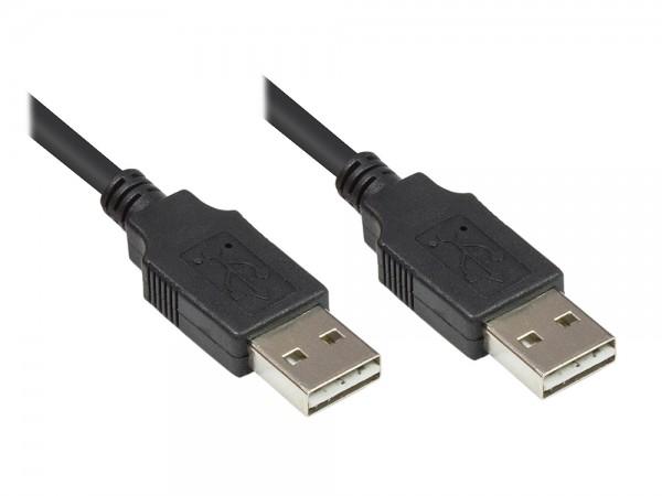 Anschlusskabel USB 2.0 High-Speed EASY A Stecker an EASY A Stecker, schwarz, 0,5m, Good Connections®