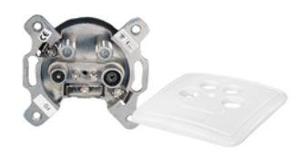 Antennendose Unterputz, Stich-/Enddose, 2dB, weiß