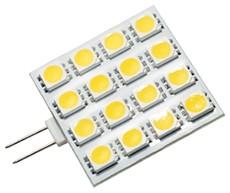 LED G4 Leuchtmittel, 16 x 5050 LEDs, 160 lm, 3W, 10-25V AC/D