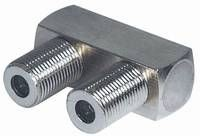 Adapter Connector F-Buchse an F-Buchse, Good Connections®