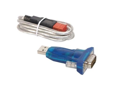 """USB an Seriell Konverter Adapter, USB """"A"""" Stecker an 9-pol SubD Stecker inkl. USB Verlängerung, Good Connections®"""