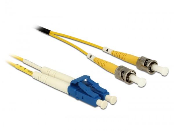 Kabel Lichtwellenleiter LC an ST Singlemode OS2, 1m, Delock® [84611]