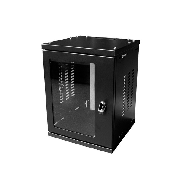 "10"" SOHO Wandgehäuse 4HE 312x300mm, montiert, schwarz, LogiLink® [W06Z33B]"
