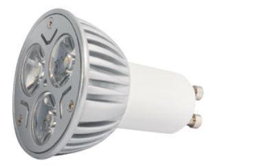 Power LED, 3W, 230V, 95 lm, 3000K, (warmweiß), dimmbar, A, 45° Abstrahlwinkel