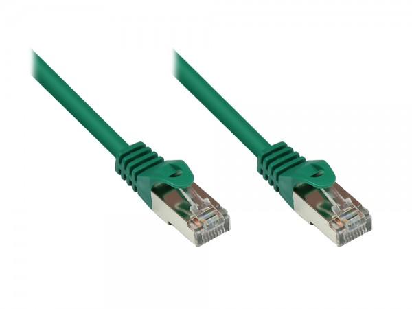 RNS® Patchkabel mit Rastnasenschutz, Cat. 5e, SF/UTP, PVC, 100MHz, grün, 3m, Good Connections®