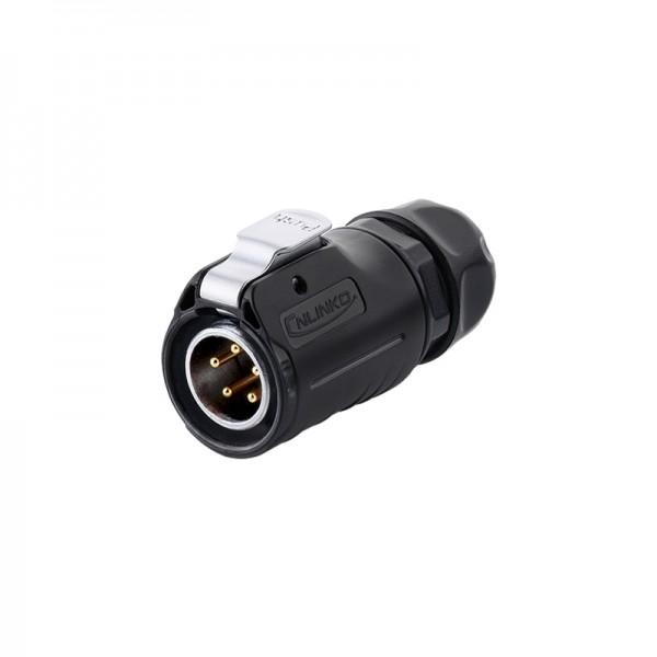 Industrie-Steckverbinder S1 - Power (5-Pin) Stecker mit Klick-Arretierung, Lötanschluss, M20, IP65/67, Good Connections®
