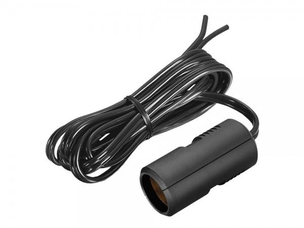 Kfz Flachleitung mit Kupplung, 8A, schwarz, 1,8m