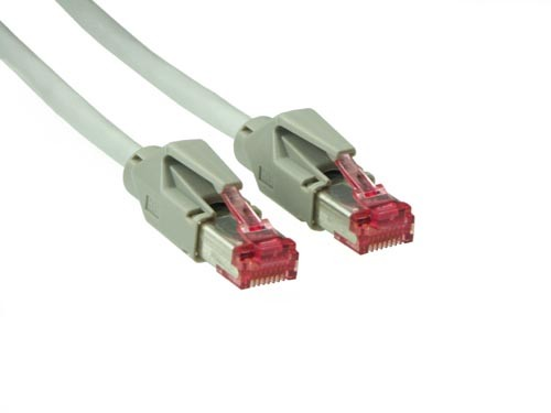 Patchkabel, Cat. 6, S/FTP, PiMF, halogenfrei, 600MHz, Hirose-Stecker, 1m, Good Connections®