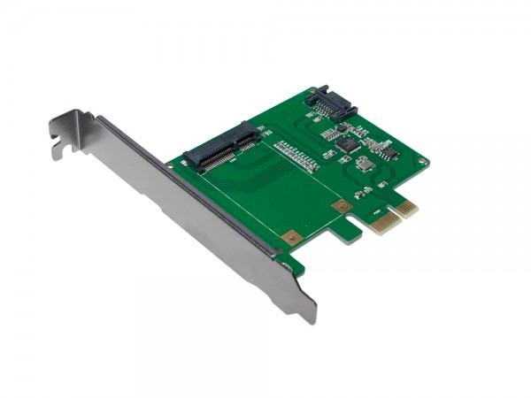 PCI-Express Karte, 1x mSATA SSD + 1x SATA HDD, LogiLink® [PC0077]
