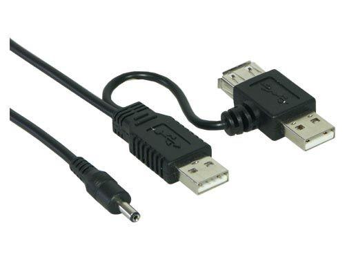 USB Stromversorgungskabel, USB A St. an 5V (USB Y-Kabel)