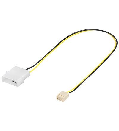 Lüfter-Adapterkabel, 3-pin Buchse an 4-pin Stecker, Good Connections®