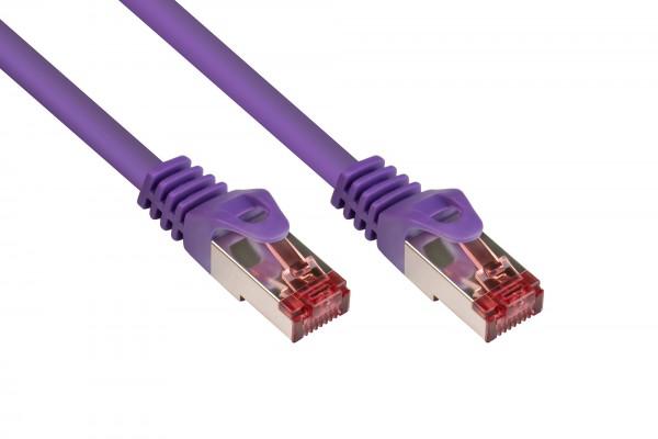 RNS® Patchkabel mit Rastnasenschutz, Cat. 6, S/FTP, PiMF, PVC, 250MHz, violett, 0,25m, Good Connections®
