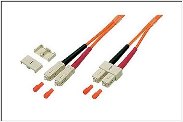 Patchkabel LWL Duplex OM1 (Multimode, 62,5/125) SC/SC, 2m, Good Connections®