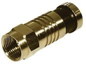 F-Kompressionsstecker, vergoldet, 8,2 mm, Good Connections®