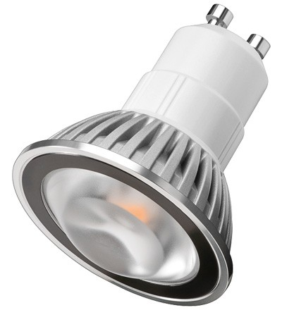 LED Spotlampe GU10 Daylight Weiß, Sharp Mini ZENI Chip LED, 180lm, 4,6W, 230V, 4000K