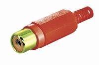 Cinch Buchse vergoldet bis 7mm Kabel, rot, Good Connections®
