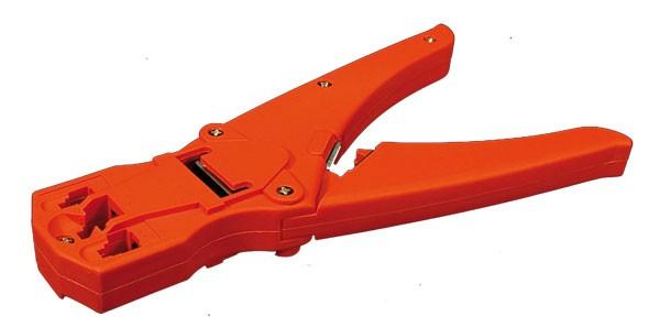 LogiLink® Crimpzange universell mit Kabelschneider und Abisolierer Kunststoff [WZ0009]