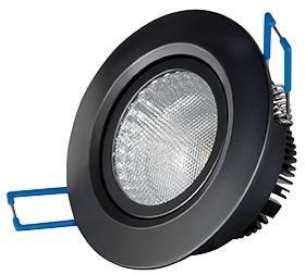 LED Einbaustrahler, 4,5W, 230V, 220 lm, 3000K, (warmweiß), dimmbar, A, 45° Abstrahlwinkel