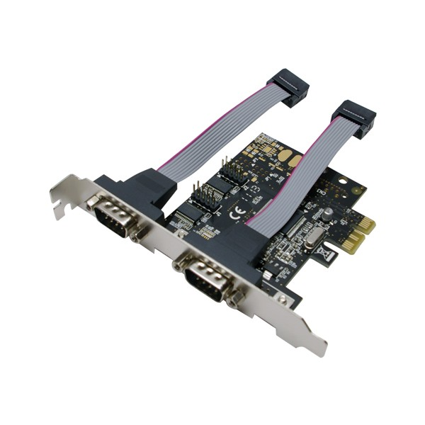 LogiLink® PCI Express Schnittstellenkarte Seriell 2x RS232 [PC0031]