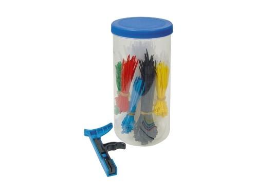 Kabelbinderset 501-teilig, diverse Farben + Längen, inkl. Kabelbinderzange, Good Connections®