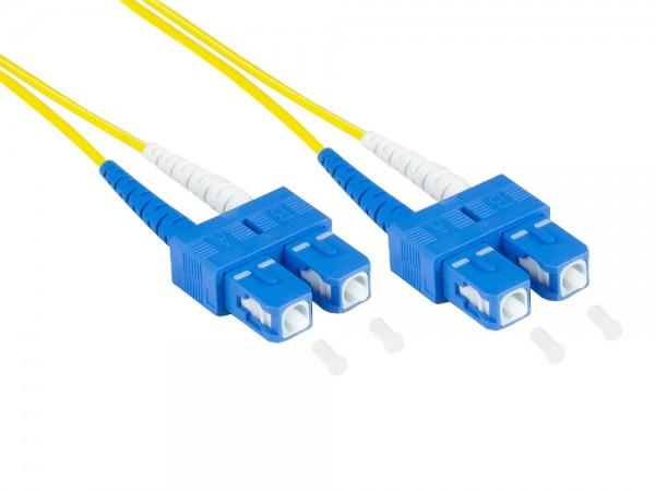 Patchkabel LWL Duplex OS2 (Singlemode, 9/125) SC/SC, LSZH, austauschbare Polarität, 30m, Good Connections®