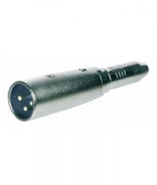 XLR-Adapter, 3pol XLR-Stecker auf 6,35mm Mono Buchse, Good Connections®