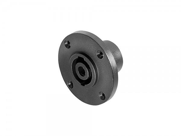 PA Lautsprecher-Einbaukupplung, 4-pol, rund für Chassismontage, Good Connections®
