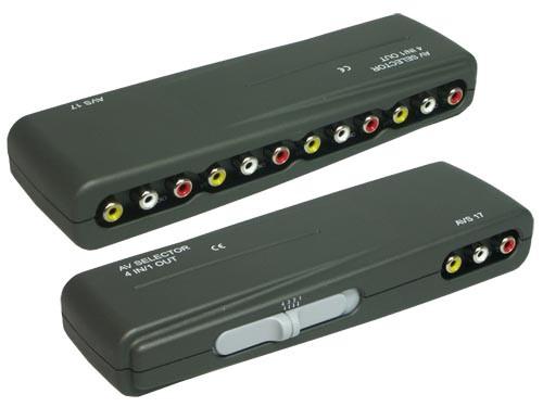 Audio-Video Umschaltbox 4-fach