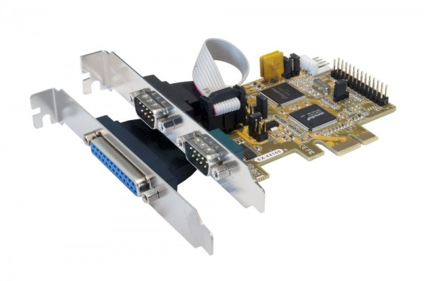 PCIe 2S Seriell RS-232/1P Parallel Multi I/O Karte (SystemBase), Exsys® [EX-44160]