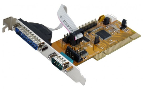 PCI 2S Seriell RS-232 Karte mit 9/25 Pin Anschluss (SystemBase), Exsys® [EX-43063]