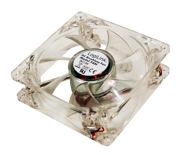 LogiLink® Gehäuselüfter 120mm, Y- Stromkabel, Acryl mit LED [FAN104]