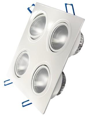 LED Einbaustrahler, 4,5W, 230V, 1040 lm, 3000K, (warmweiß), dimmbar, A, 30° Abstrahlwinkel