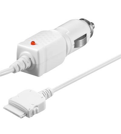 KFZ-Ladekabel 12V/24V passend für Apple iPod / Iphone 3G, weiß