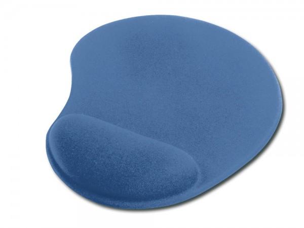 Mauspad mit Gel Handballenauflage, blau
