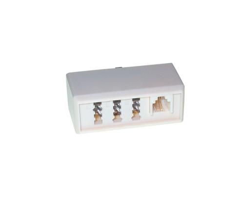 Telefon-Adapter F Stecker / 2 X N Buchse + 1 X F Buchse, Good Connections®