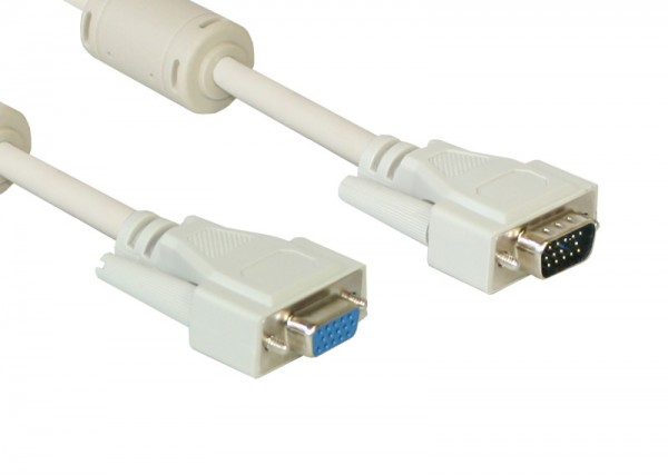 Verlängerung S-VGA Stecker auf Buchse, grau, 15m, Good Connections®