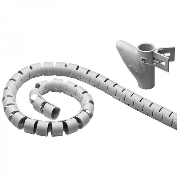 WireTube, robuster Spiralschlauch gegen den Kabelsalat, 2,5m, silber