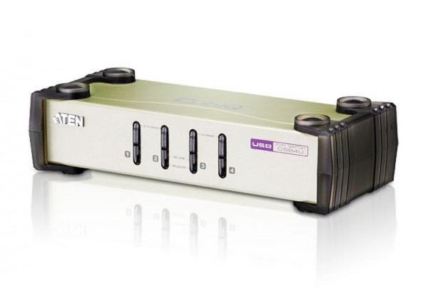 Aten® CS84U kompakt KVM-Switch, 4-fach , PS/2 und USB