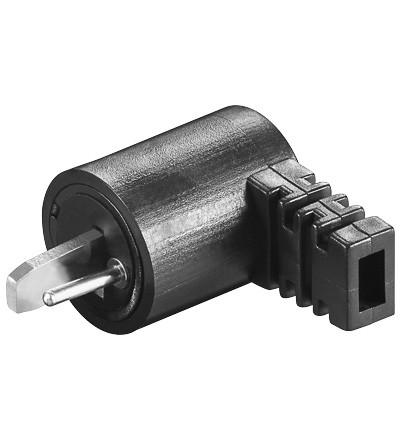 Lautsprecherstecker zum Schrauben, gewinkelt, Good Connections®