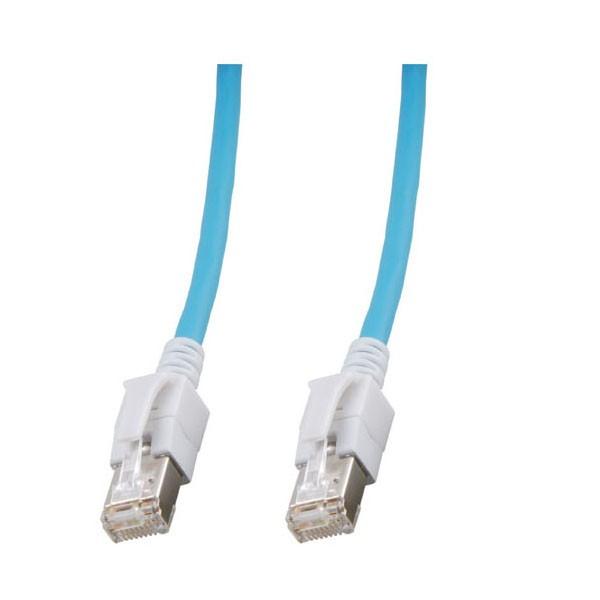 Patchkabel, Cat. 6A, S/FTP, PiMF, halogenfrei, mit leuchtenden Steckern, blau, 30m, Good Connections®