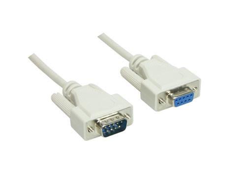 Serielle Verlängerung 9-pol Stecker an Buchse, Länge: 3m, Good Connections®